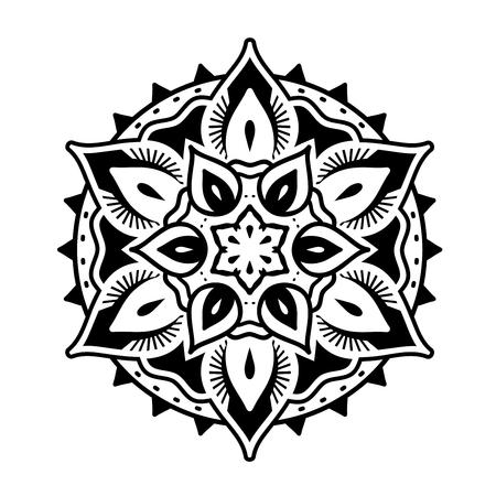 Decorative round Mandala style ornaments