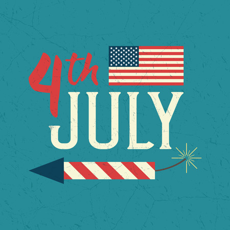 4th of July design poster. Independence day celebration. United Stated independence day greeting card