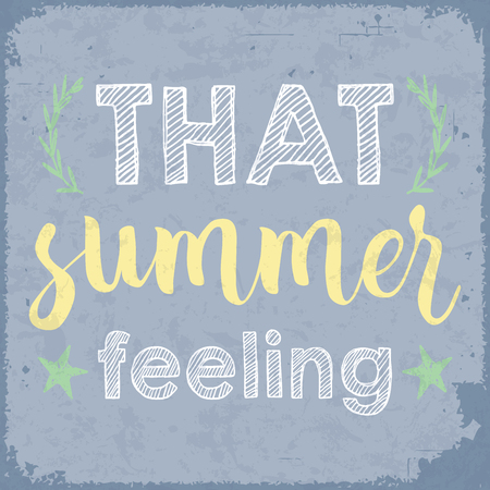 That summer feeling. Summertime vintage poster. Ilustrace