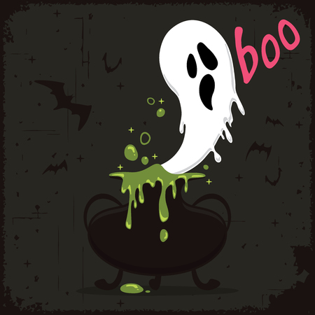 Ghost flying out of a magic potion.