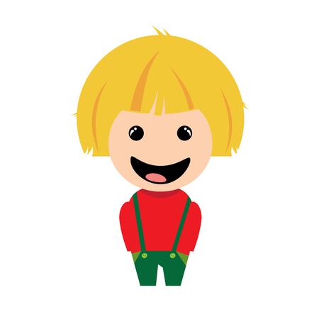 Smiling boy, cartoon character