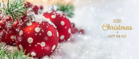Merry Christmas and Happy New Year, Holidays greeting card background. Selective focus.holidays