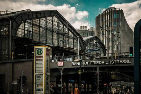 Berlin / Germany - 13 May 2019:  Friedrichstrasse Berlin  S-Bahn station Editorial