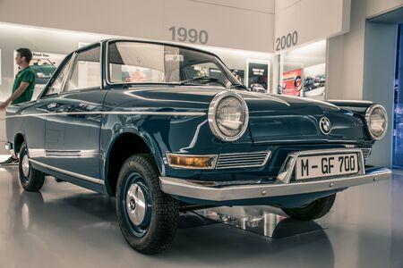 Munich/ Germany - May, 24 2019: 1964 BMW 700 classic BMW car in BMW Museum/ BMW Welt