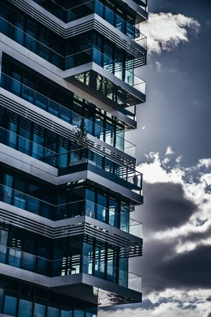 Modern architecture buildings of glass and metall in Berlin