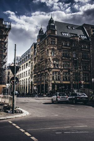 Berlin / Germany - 13 May 2019: Classic 18-19th century architecture at Berlin streets, cloudy summer day, sightseens Editorial