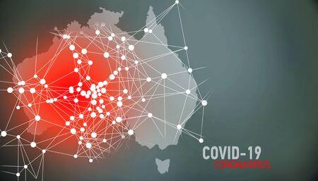 Australia, covid-19, Global virus and world virus infection visualization