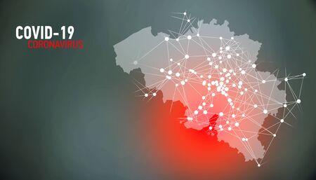 Belgium, covid-19, Global virus and world virus infection visualization