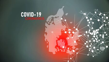 Denmark, covid-19, Global virus and world virus infection visualization Foto de archivo