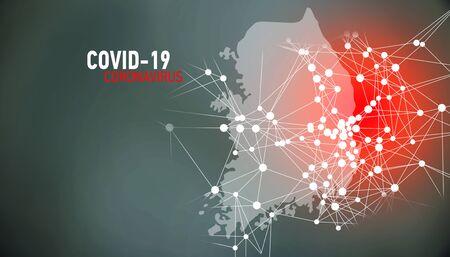 South Korea, covid-19, Global virus and world virus infection visualization
