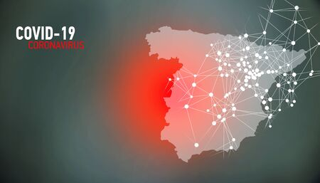 Spain, covid-19, Global virus and world virus infection visualization