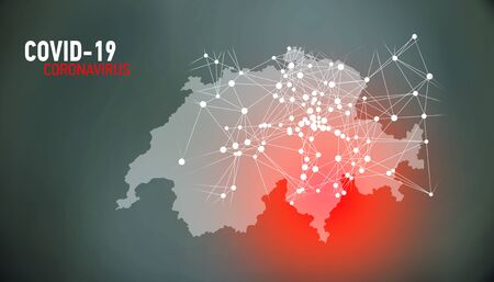 Switzerland, covid-19, Global virus and world virus infection visualization Foto de archivo