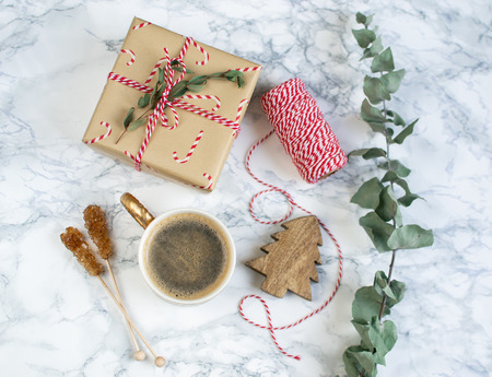 New Year's Day Vintage Christmas Coffee Hot Beverages 版權商用圖片