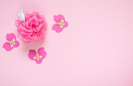 Pink Biscuit Top View Background