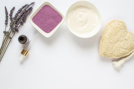 Lavender Organic Scrub, Cream, Oil, Body Skin Care, SPA Aroma Concept