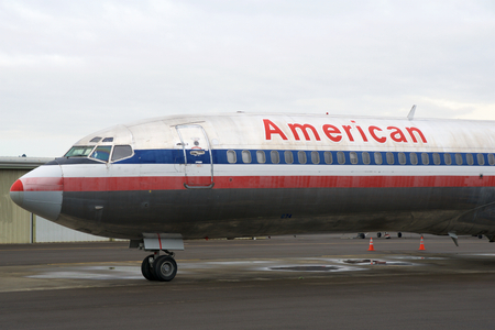 SEATTLE, WASHINGTON, USA - JAN 27th, 2017: An American Airlines Boeing 727-200 MSN 21386, Registration N874AA, built in 1978, since 2003 registered to the MUSEUM OF FLIGHT FOUNDATION
