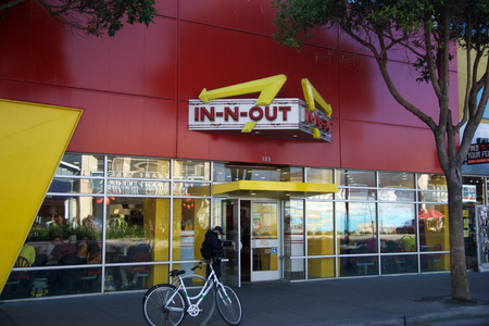 SAN FRANCISCO, CALIFORNIA, UNITED STATES - NOV 11th, 2018: In-N-Out Burger at Fishermans Wharf Location