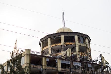 Demolition of Kigali Top Tower Hotel, Rwanda Stock Photo