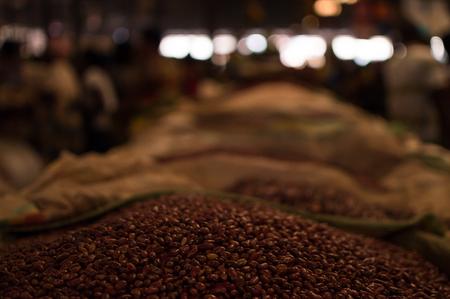 Beans at Kimironko Market in Kigali, Rwanda Stock Photo