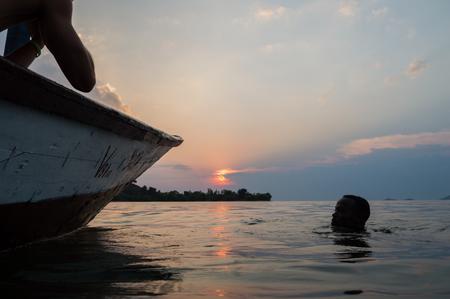 Sunset Boat Ride on Lake Kivu, Kibuye, Rwanda