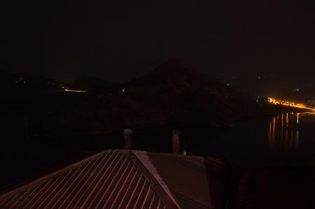 Nightshot of a Resort at Lake Kivu, Kibuye, Rwanda