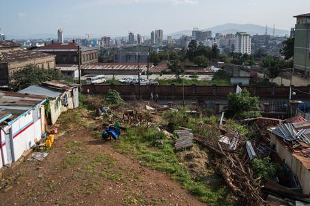 City Panorama, Addis Ababa, Ethiopia Stock Photo