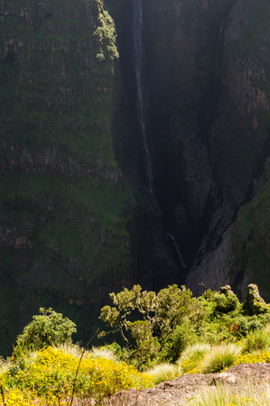 Jin Bahir Falls, Hiking in the Simien Mountains, Ethiopia