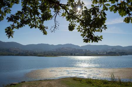 Lake at Great Park of Tirana, Albania Stock Photo