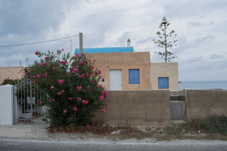 Typical Santorini Whitewashed House with Sea View off the Beaten Track, Greece