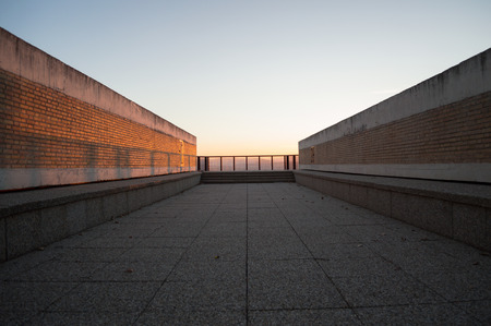 Empty Lookout Point over Granada, Spain during Sunset 版權商用圖片