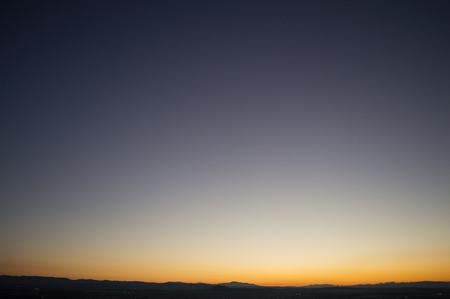 Afterglow with Color Spectrum at Mirador del Barranco del Abogado Lookout in Granada, Spain Stok Fotoğraf