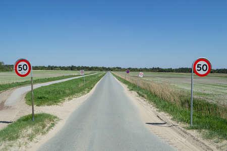 Danish Landscape Scenery with Road