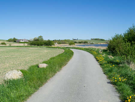 Danish Landscape Seaside Scenery with Road Banque d'images