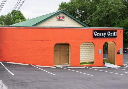 HICKORY, NC, USA-21 MAY 18: Crazy Grill restaurant.