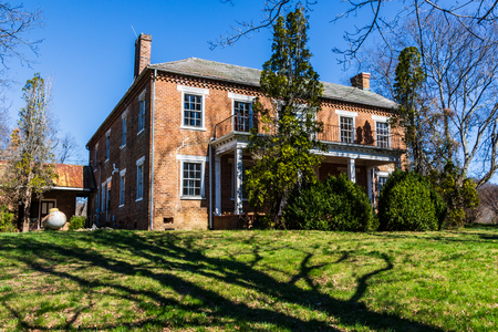 JONESBOROUGH, TN, USA-4 MARCH 18:The historic Byrd Brown house, grandson of Jacob Brown, founder of the Nolichucky community in East Tennessee.  Built around 1800.