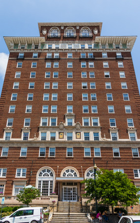 ASHEVILLE, NC, USA-10 JUNE 18:  The Battery Park hotel building, now serving as senior citizens' apartments. Stock Photo - 103418053