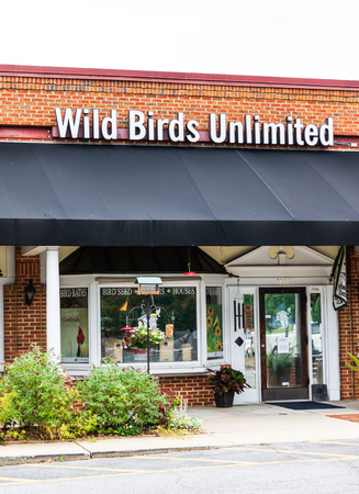 HICKORY, NC, USA-21 JUNE 18:  Wild Birds Unlimited operates over 300 stores in the U.S. and Canada, specializing in bird seed, bird feeders, and other supplies.