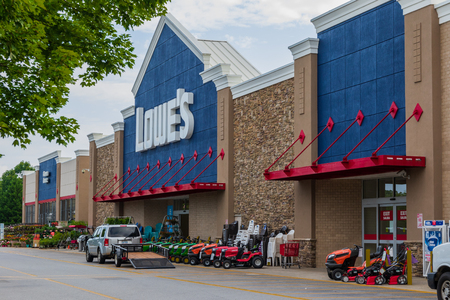 HICKORY, NC, USA-23 JUNE 18: Lowes Companies, Inc. operates a a chain of 2370 home improvement and hardware stores in the U.S., Canada, and Mexico.