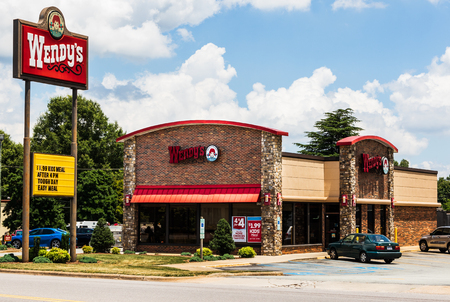 HICKORY, NC, USA-22 JUNE 18: Wendys is an American international fast food restaurant chain, with 6500 locations.