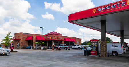 HICKORY, NC, USA-22 JUNE 18:  Sheetz, Inc. is an American chain of fast food, convenience stores and gas stations. Editorial