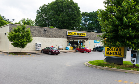 CATAWBA, NC, USA-22 JUNE 18:  Dollar General is an American chain of 16,500 variety stores, headquartered in Goodlettsville, Tennessee.