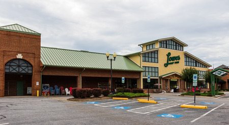 HICKORY, NC, USA-21 JUNE 18: Lowes Foods is a grocery chain basesd in Winston-Salem, N.C., which operates 80 stores throughout North and South Carolina, and Virginia.