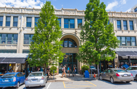 ASHEVILLE, NC, USA-24 JUNE 18: The Grove Arcade, comprising an entire city block in downtown Asheville. Stock Photo - 103418681