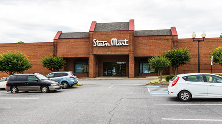 HICKORY, NC, USA-21 JUNE 18: Stein Mark is an American discount men and womens department store chain based in Jacksonville, Florida.   It operates almost 300 stores in the southeast, Texas and California.