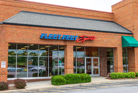 HICKORY, NC, USA-21 JUNE 18:  Fleet Feet Sports owns, operates, and franchises a chain of specialty stores that serve runners, walkers, and fitness enthusiasts in the U.S.