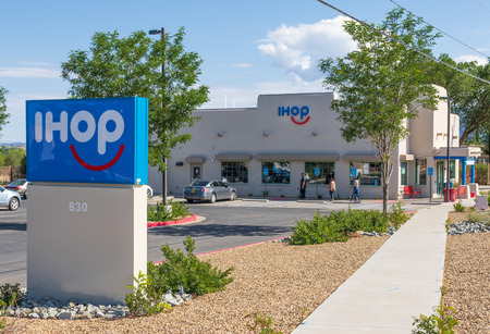 TAOS, NM, USA-13 JULY 18: IHOP, International House of Pancakes, is an American restaurant chain, with 16550 locations around the world.