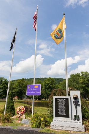 SMETHPORT, PA, USA-11 AUGUST 18: A memorial stands in Hamlin Park  to soldiers lost in the Vietnam war. Stock Photo - 106713302