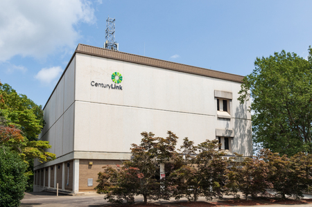 HICKORY, NC, USA-19 AUG. 2018: A CenturyLink building in downtown.  CentturyLink is a provider of phone, internet and TV services.