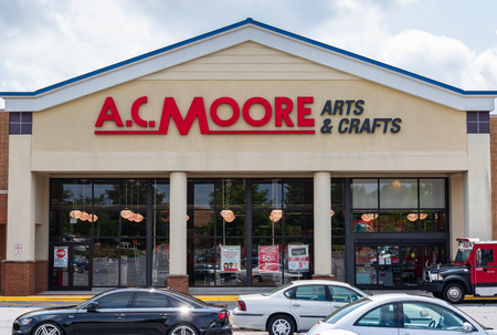 HICKORY, NC, USA-20 AUG 2018: An A.C. Moore store, a retailer selling arts and craft supplies.
