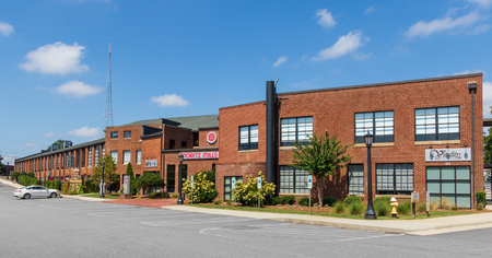 HICKORY, NORTH CAROLINA,  USA-9118: Moretz mill building, renovated and re-purposed for small businesses. Editorial
